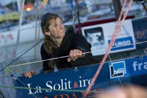 Cecile Laguette (Deauville) 37eme de la 1ere etape de la Solitaire Bompard Le Figaro entre Deauville et Cowes (UK) - Deauville le 22/06/2016