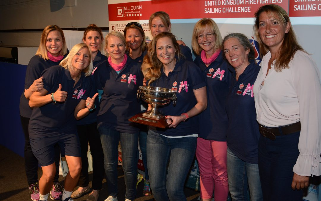 Hampshire female sailing team cruise to victory in charity sailing event